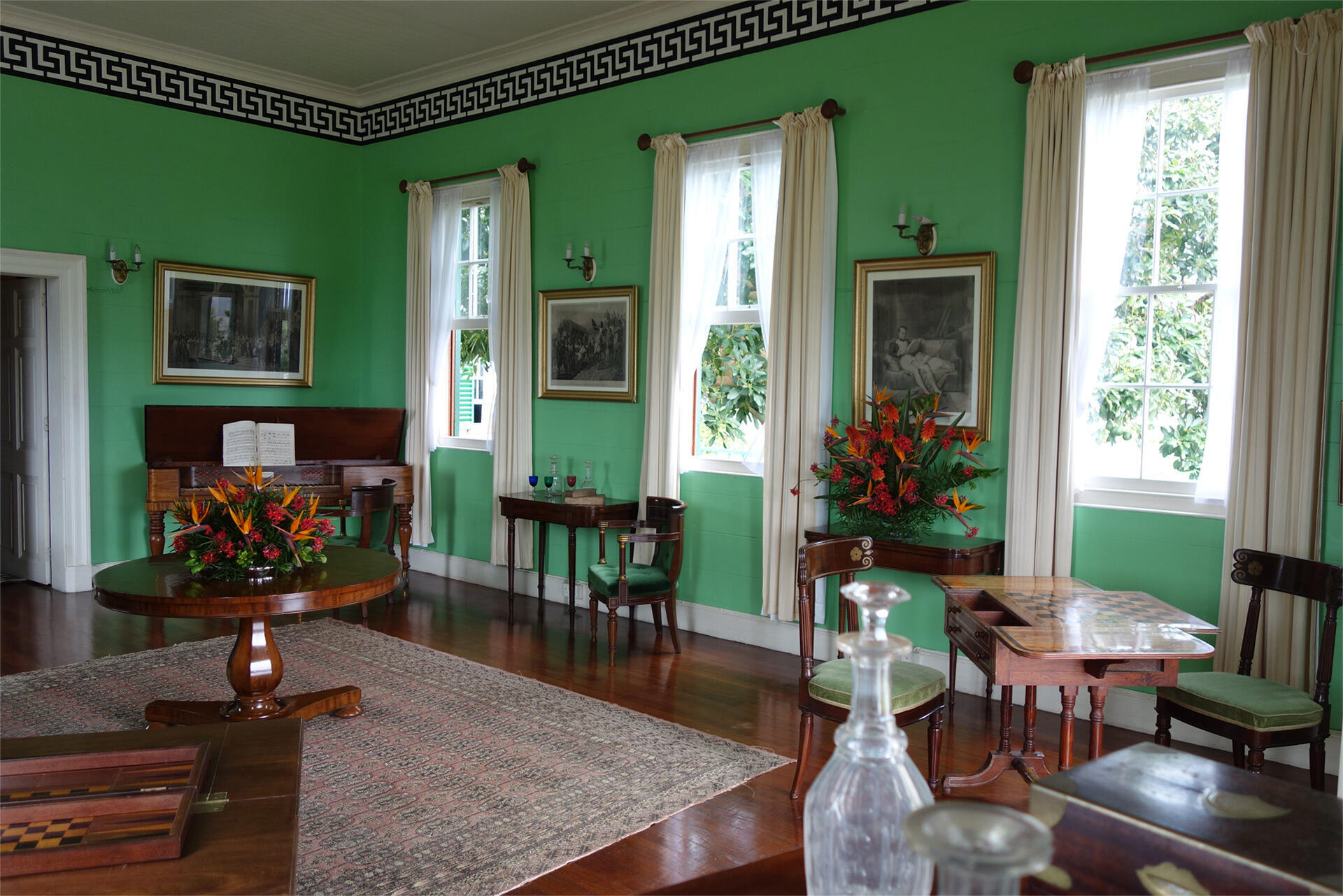 The interior of Longwood, Napoleon Bonaparte's residence on St.Helena