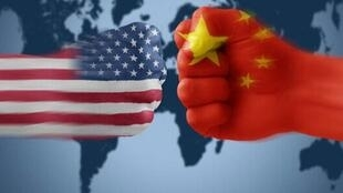中美貿易報道圖片