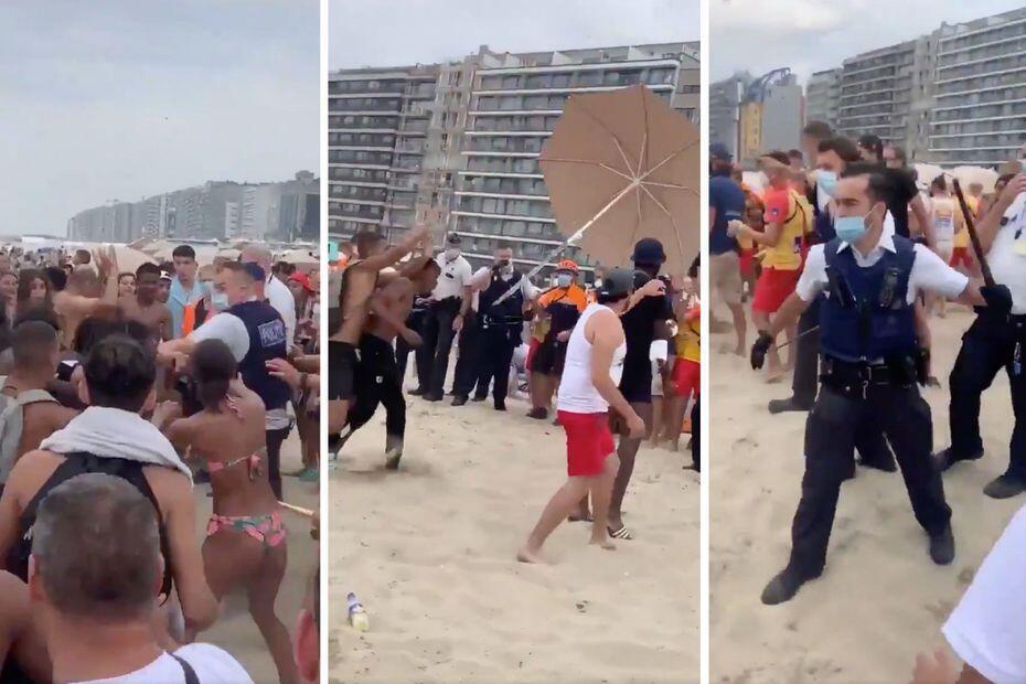 Banhistas enfrentaram policiais que tentaram retirá-los da praia.