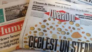 Primeiras páginas dos diários franceses 21/09/2016