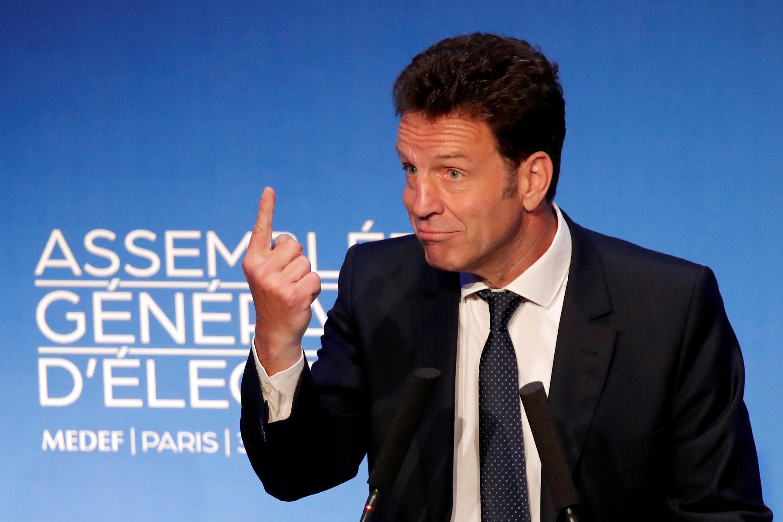 Geoffroy Roux de Bézieux, nouveau président du Medef. Paris, le 3 juillet 2018.