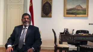 Sabon Shugaban kasar Masar Mohamed Morsi.