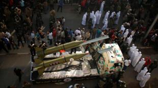 Des militants du Jihad islamique palestinien participent à un défilé militaire dans les rues de Gaza City, le 4 octobre.