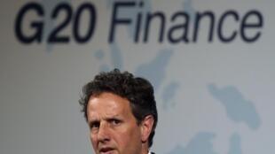 លោករដ្ឋមន្ត្រីក្រសួងហិរញ្ញវត្ថុអាមេរិក Timothy Geithner