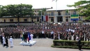 Le Camp De Gaulle de l'armée française, à Libreville, le 17 juillet 2011, lors de la visite du Premier ministre d'alors, François Fillon.