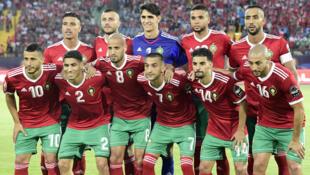 L'équipe du Maroc, lors de la CAN 2019.
