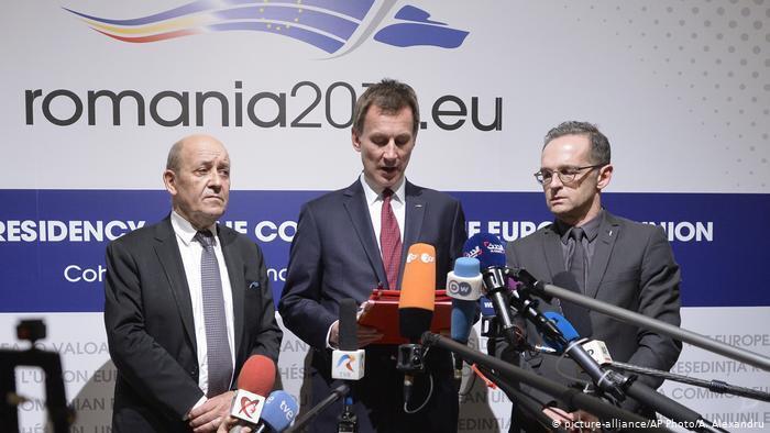 وزرای امور خارجۀ فرانسه، آلمان و بریتانیا سه کشور اروپایی مبتکر اینستکس ابزار مبادلات بازرگانی میان ایران و اروپا
