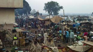 Campo de refugiados de Mpoko, cerca del aeropuerto de Bangui, febrero de 2014.
