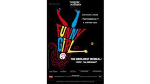 Affiche du spéctacle « Funny Girl » au théatre Marigny à Paris.