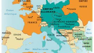 Bản đồ thế giới năm 1914.