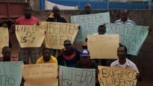 Manifestação poríbida para exigir liberdade imediata dos activistas detidos desde 20 de Junho