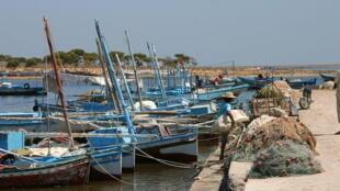 Des bâteaux de pêche en Tunisie.