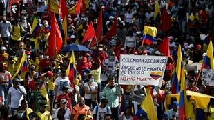 Mass anti-government demonstrations are taking place in Colombian cities like Cali, were the Copa America 2021 football games were scheduled to be played