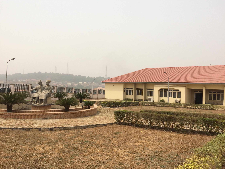 Statue at the entrance of the Chief Tony Anenih Geriatric Centre, Ibadan Nigeria