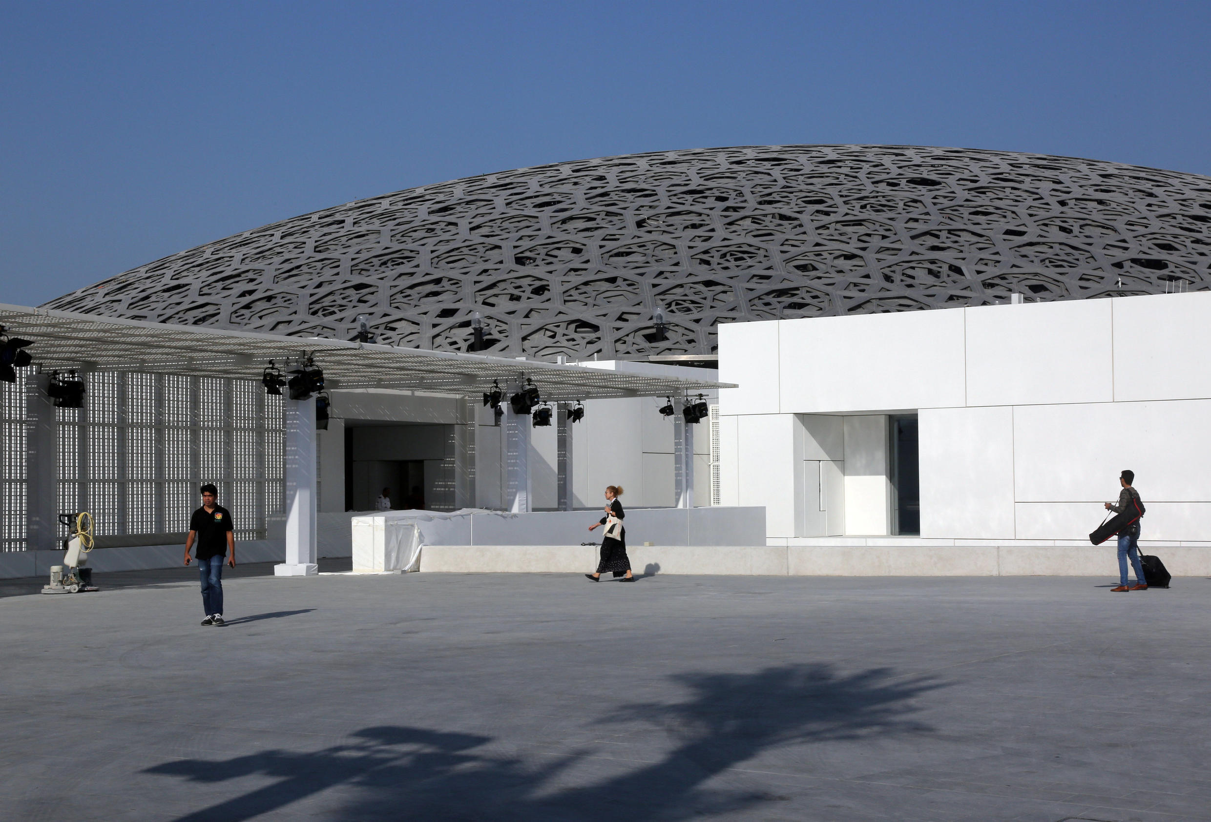 French architect Jean Nouvel designed the Louvre Abu Dhabi