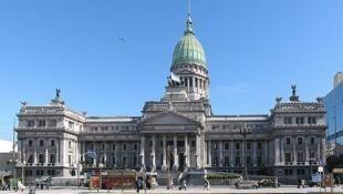 Congreso argentino, donde funcionan la Cámara de Diputados y la Cámara de Senadores.