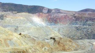 Une mine de cuivre à ciel ouvert (photo d'illustration).