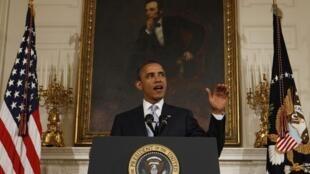 Barack Obama, el 8 de agosto en la Casa Blanca.