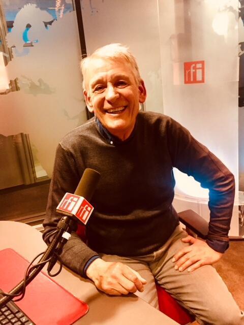 Richard Morgiève en studio à RFI (mars 2019).