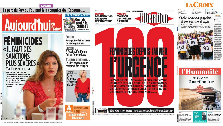 A imprensa francesa destaca o início de um debate nacional sobre a violência conjugal.