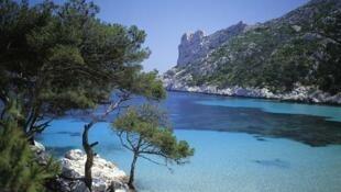 Le massif des Calanques de Marseille.