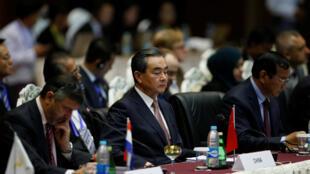 Ngoại trưởng Trung Quốc Vương Nghị tại hội nghị Á-Âu (ASEM) thứ 13, tại Naypyidaw, Miến Điện, ngày 20/11/2017.