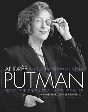 Cartaz da exposição dedicada à obra de Andrée Putman na prefeitura de Paris, em 2011.
