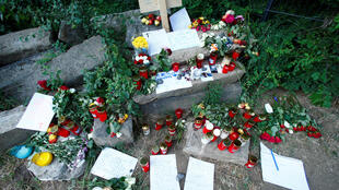 Место убийства Сюзанны Фельдман в Эрбенхайме