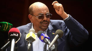 Sudanese President Bashir delivers a speech in El-Fasher, North Darfur during a ceremony to declare an end to 13 years of conflict in Darfur, 7 September 2016.