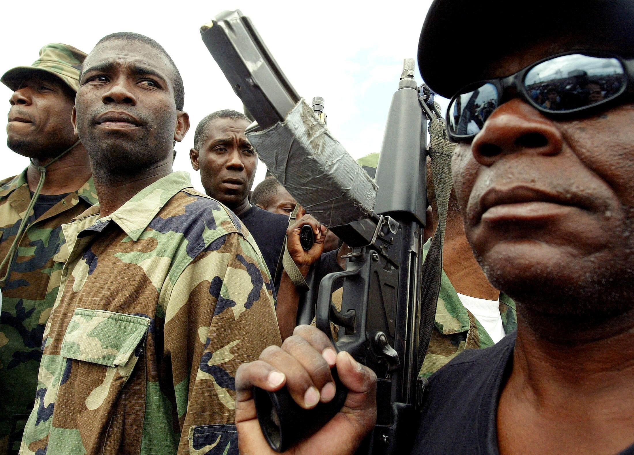 Guy Philippe ici en 2004 à Gonaïves, Haïti.