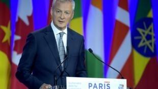 存檔圖片:法國財經部長勒梅爾 Image d'archive: French Economy and Finance Minister Bruno Le Maire