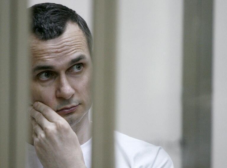 """عکس آرشیو - """"اولِگ سنتسوف""""، سینماگر اوکرائینی، برنده جایزه ساخاروف ٢٠۱٨، در ماه مه ٢٠١٤ توسط سرویس امنیتی روسیه دستگیر شد."""