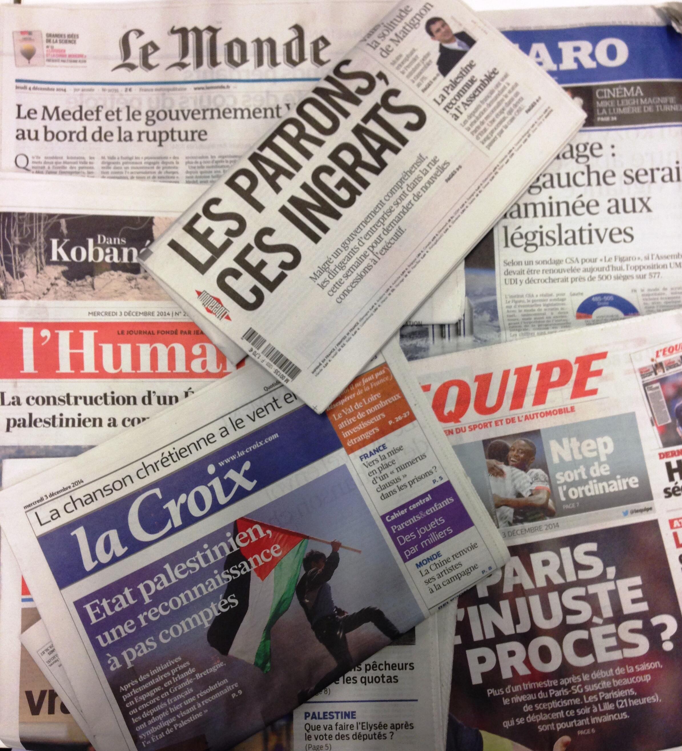 Diários franceses 03.12.2014