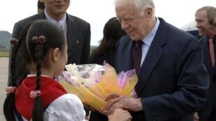 Former U.S. President Jimmy Carter in Pyongyang