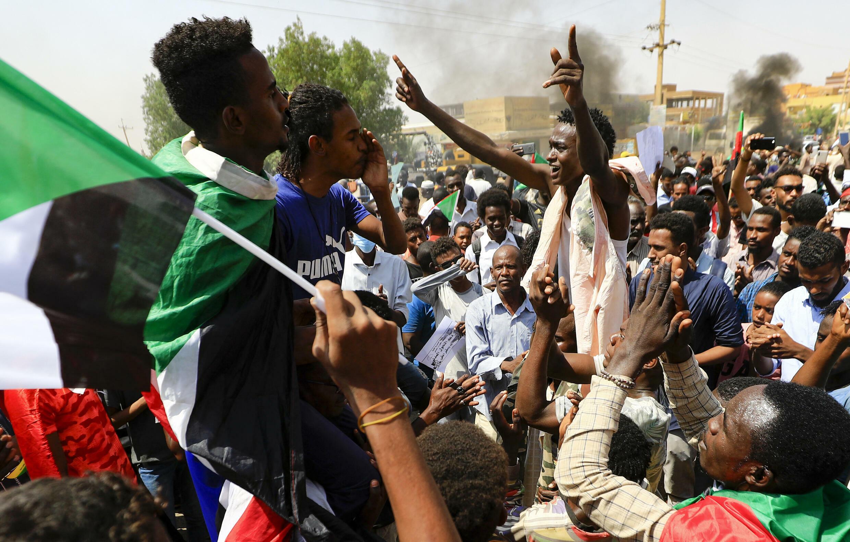 IMAGE Manifestation contres les militaires à Khartoum, Soudan, le 21 octobre 2021.
