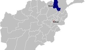 La province du Takhar (en bleu) dans le nord de l'Afghanistan.