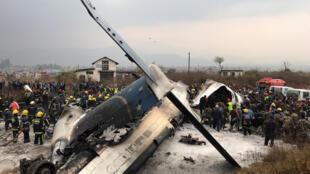Avião que caiu no aeroporto de Nepa, nesta segunda-feira
