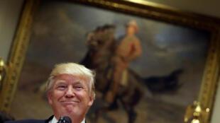 Tổng thống Mỹ Donald Trump tại Nhà Trắng ngày 26/04/2017.