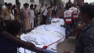 Hodeïda, le 2 août 2018 après les bombardements. Au moins 20 personnes ont perdu la vie.