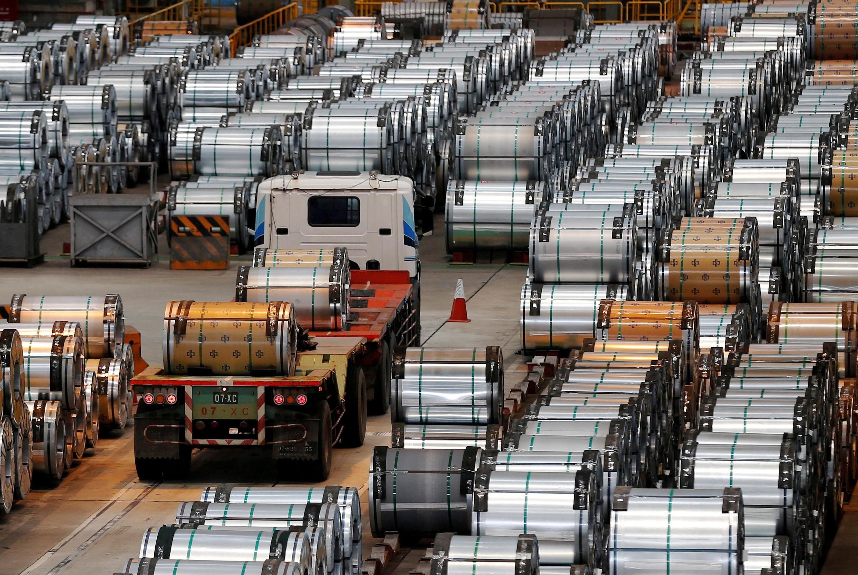 Một xưởng sản xuất thép của China Steel Corporation, thành phố Cao Hùng, phía nam Đài Loan.