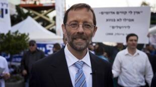 Moshe Feiglin, le candidat de l'aile droite du Likoud, pendant les primaires. Jérusalem, le 25 novembre 2012.