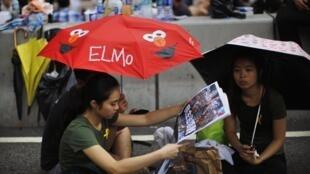 Le parapluie est devenu l'un des symbôles des manifestations du mouvement pro-démocratie Hongkongais