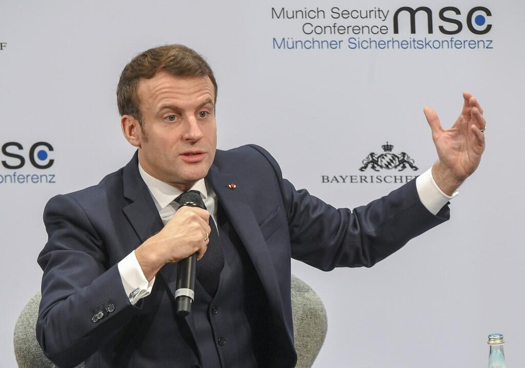 លោក Emmanuel Macron នៅក្នុងសន្និសីទស្តីពីសន្តិសុខ ថ្ងៃទី ១៥ កុម្ភៈ ២០២០