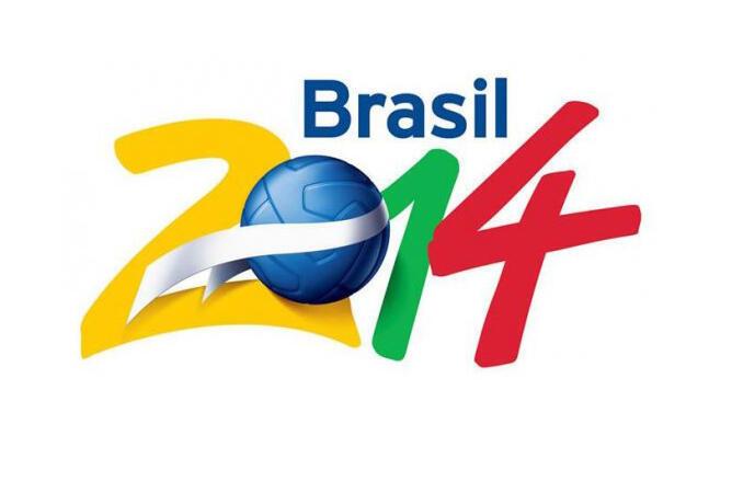 Logotipo da Copa do Mundo de Futebol no Brasil, em 2014.