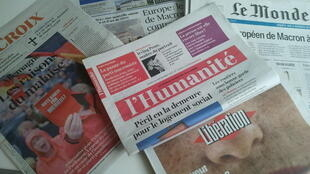 Primeiras páginas dos jornais franceses de 26 de setembro de 2017