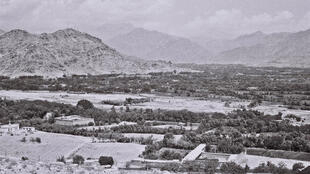 The Afghanya valley with the mountains of Kapisa in the background