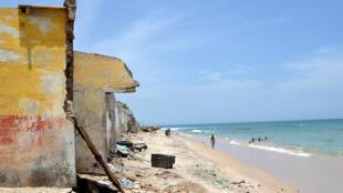 Erosion côtière au Sénégal.