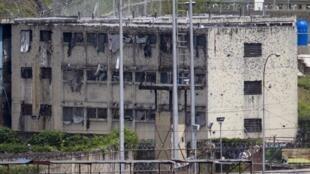 Un bâtiment de la prison El Rodeo, près de Caracas (Venezuela), le 19 juin 2011.