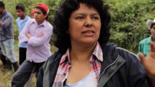 Berta Cáceres, militante écologiste hondurienne assassinée en 2016. (Capture d'écran)