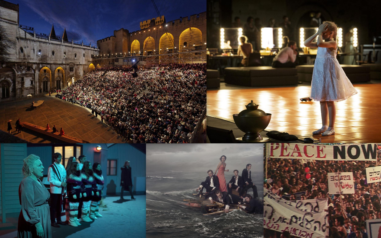 Foto montagem (esq.-d): Palácio dos Papas / Os deuses mauditos / Tristesses / FC Bergman / Yitzhaj Rabin